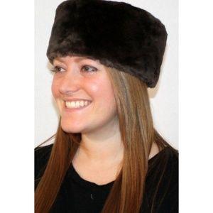 Ladies Sheared Beaver Fur Leather Pill Box Hat
